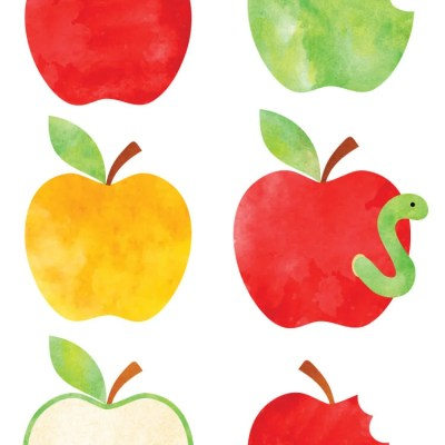 Free Watercolor Apple Clip Art