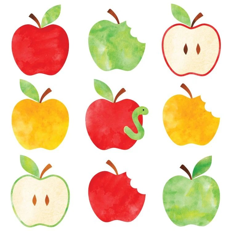 Go back to school with this free watercolor apple clip art! Nine delicious designs for all of your school projects.