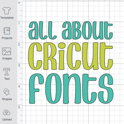 All About Cricut Design Space Fonts