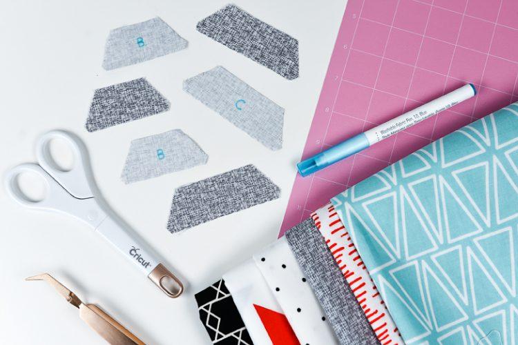 Fabric cut from Cricut Maker