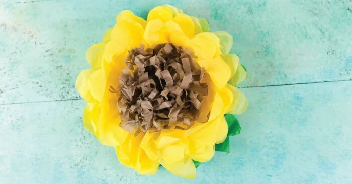 How To Make Tissue Paper Sunflowers Hey Let S Make Stuff