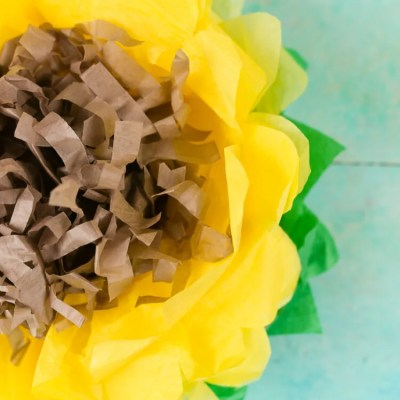 How to Make Tissue Paper Sunflowers