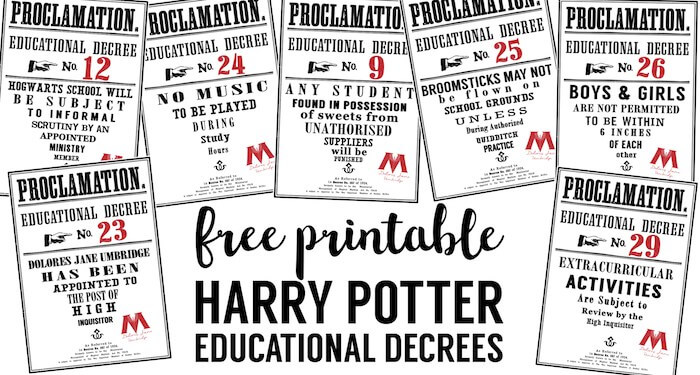 Sassy image inside harry potter decorations printable