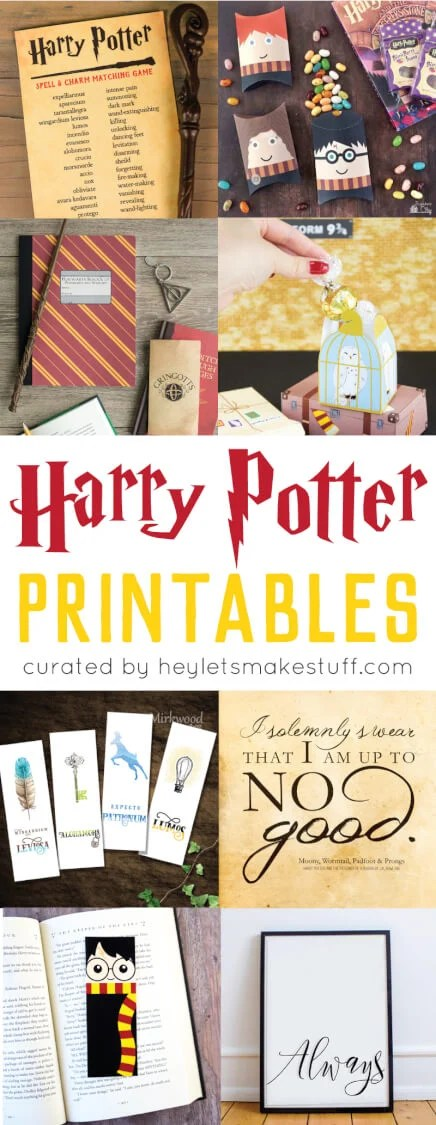 image relating to Harry Potter Printable Bookmarks named Magical Harry Potter Printables - Game titles, Social gathering, Decor