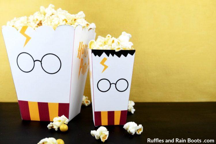 Harry Potter printable popcorn boxes