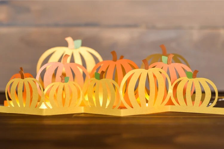 Download the free SVG cut files for this gorgeous pumpkin luminaria! Cut the three layers on your electronic cutting machine and add twinkle lights, powered by RAYOVAC® batteries. #PoweredByRayovac #SureThing AD
