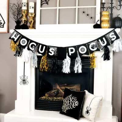 Glam Halloween Mantel Ideas