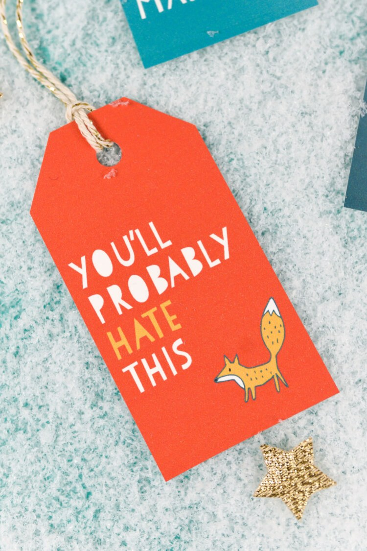 Say what you're really thinking with these funny gift tags for Christmas! These printable gift tags will make the recipient laugh out loud and probably score you some points before the gift is even opened!