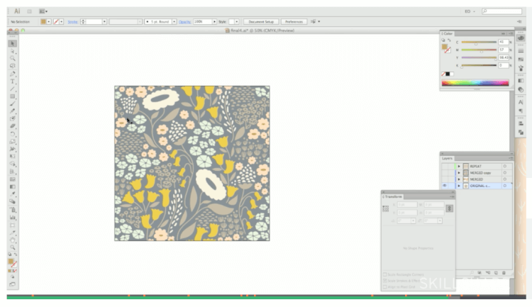 Skillshare: Introduction to Designing Repeat Patterns in Adobe Illustrator | Elizabeth Owlen