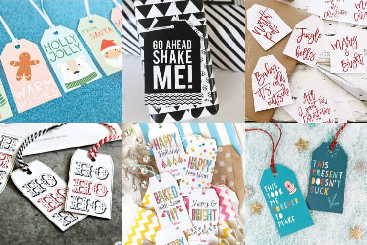 image relating to Free Printable Favor Tags called 30+ Free of charge Printable Reward Tags for Xmas - Hey, Makes it possible for Create