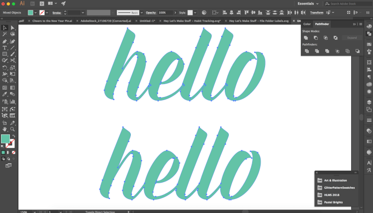 Frustrated trying to create an outline around your text in the Cricut Design Space? It's not easy! Here's a much easier way to create an outline using Adobe Illustrator.