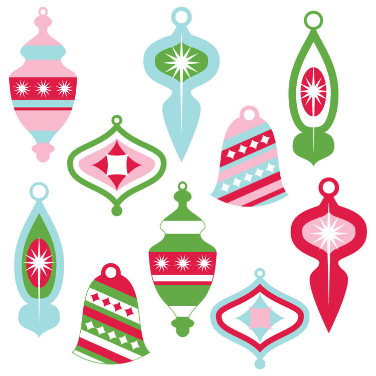 Vintage Christmas Ornaments Clip Art Hey Let S Make Stuff