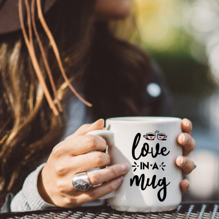 Love in a Mug Valentine SVG