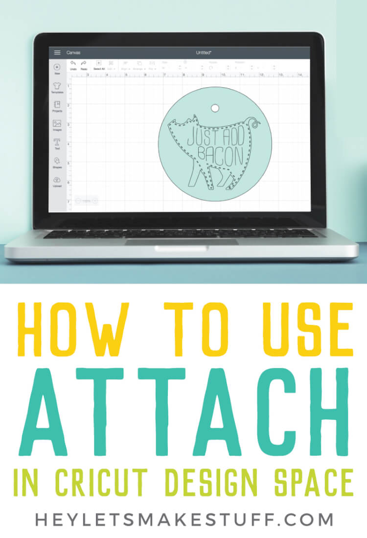 Why would you need to use attach in Cricut Design Space? Here's everything you need to know about the attach tool, as well as sample images to show the results of attaching shapes and images together.  via @heyletsmakestuf