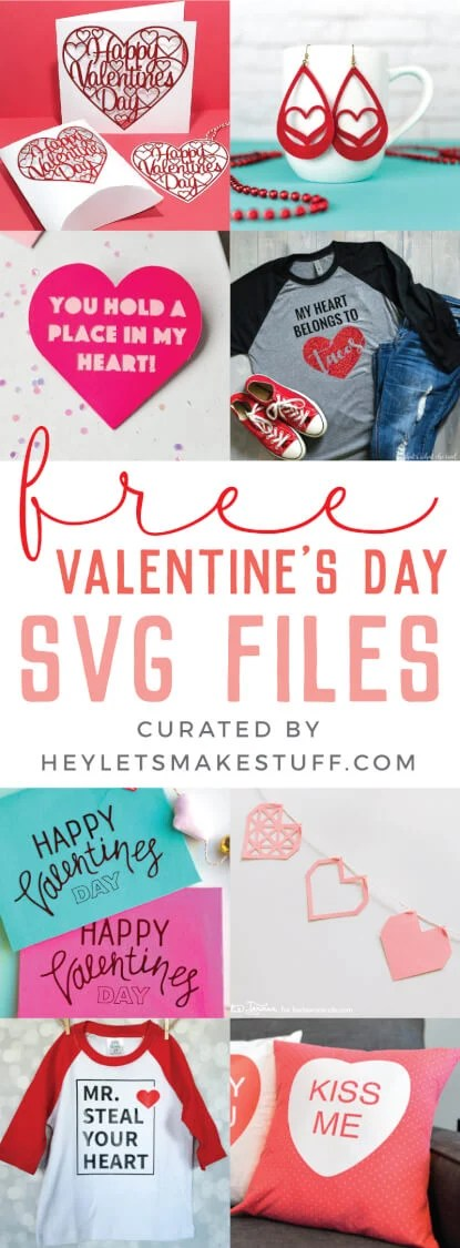 Get ready for Valentine's Day with these sweet Valentine's Day projects using the Cricut or other cutting machine! So many easy Cricut tutorials to help you celebrate the day of love! via @heyletsmakestuf