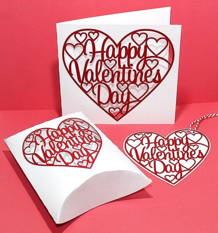 Valentines card SVG file for card
