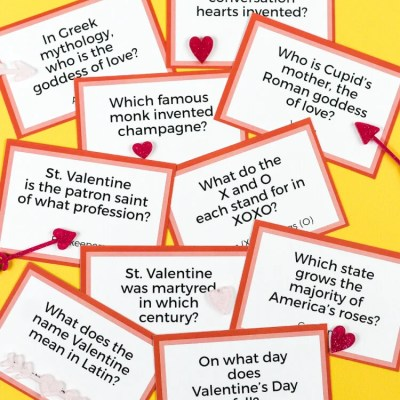 Printable Valentine's Day Trivia