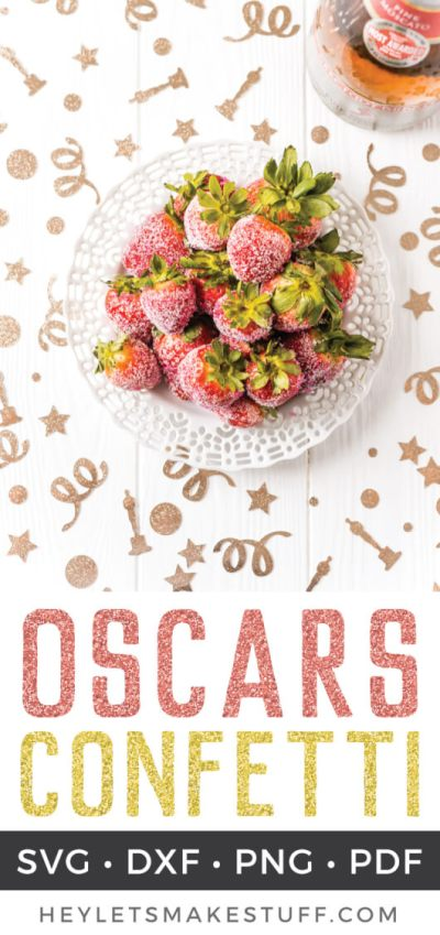 Dress up your Academy Awards party with this fun Oscars Party Confetti! Easily cut on your Cricut or other cutting machine, this festive confetti is perfect for the red carpet.