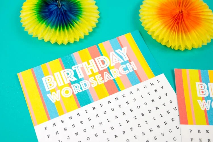 Celebrate that special day with this fun word search! This free printable birthday word search is great for parties and goodie bags.