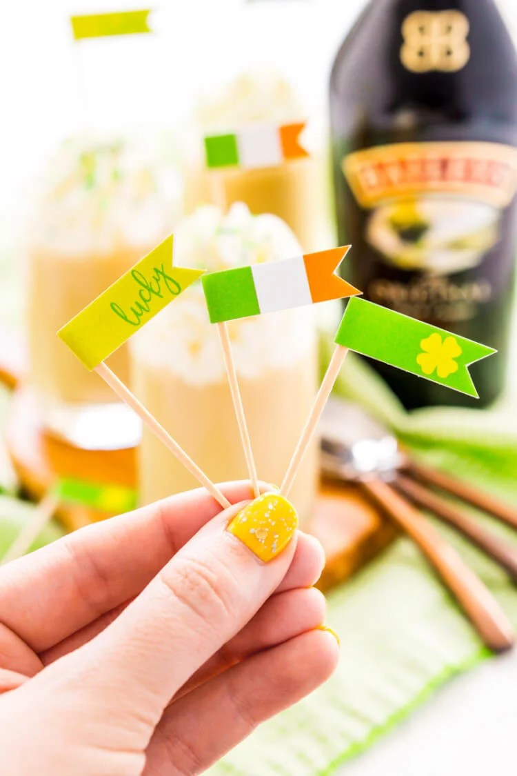 Dress up those St. Patrick's Day inspired drinks with these FREE festive printable food flags! Three versions, great for both Irish food and drinks.