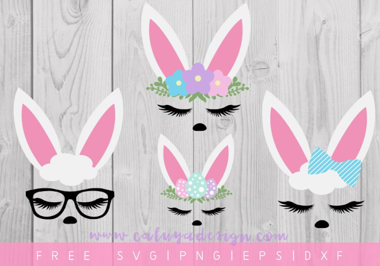"""Bunny Face SVGs"" I'm sharing my favorite FREE SVGs for Easter and spring! All the colors, designs, decor, and adorable characters you'll need for a fun and festive season."