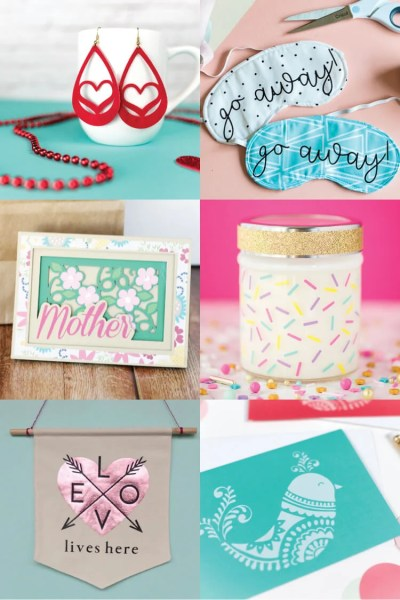 Mother's Day is the perfect time to create something handmade for your mother! She'll love these Mother's Day Craft Ideas made using the Cricut, like candles, tea towels, tote bags, and earrings. And because they are made using the Cricut, they are easy and fun to make!