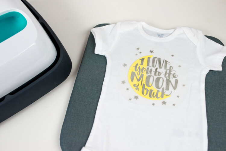EasyPress and Onesie with Design (not ironed)