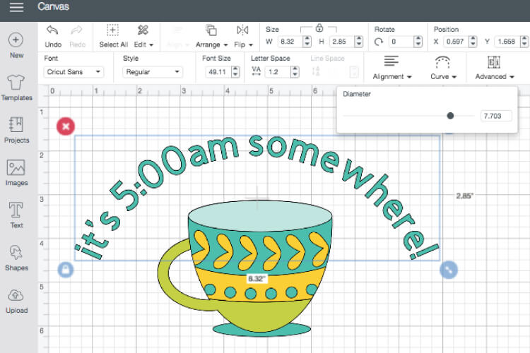 Want to curve text in Cricut Design Space? You finally can! This long awaited feature is easy to use—just follow these simple instructions to be curving your text in no time.