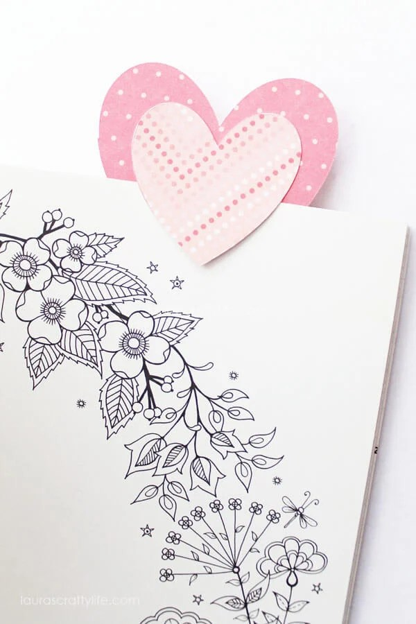 Paper Heart Bookmarks