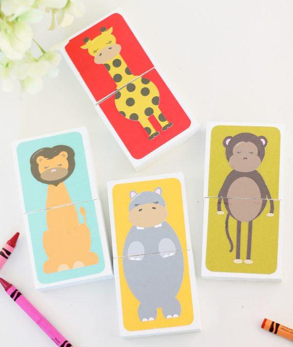DIY Animal Puzzle Blocks