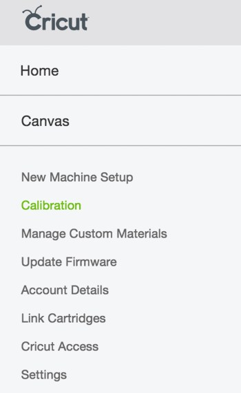 Calibration Dropdown