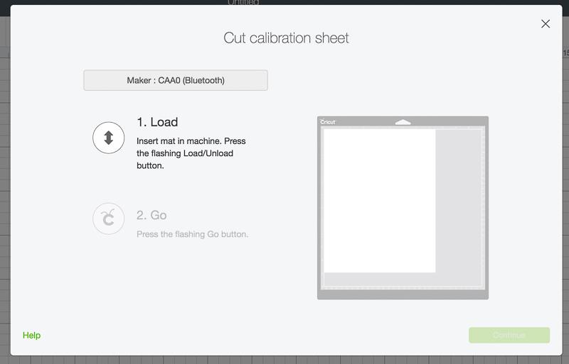 Cut Calibration Sheet Screenshot