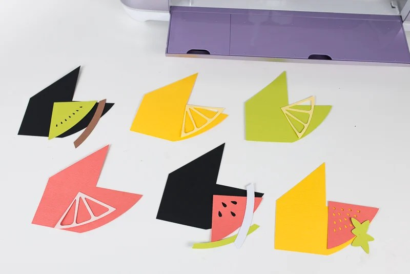 All pieces cut out on Cricut Explore.
