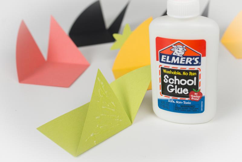 Glue triangles together.