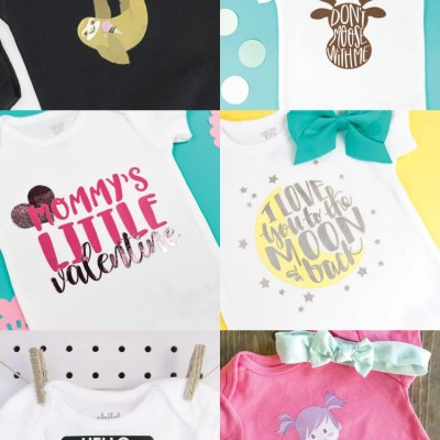 DIY Baby Onesies with the Cricut