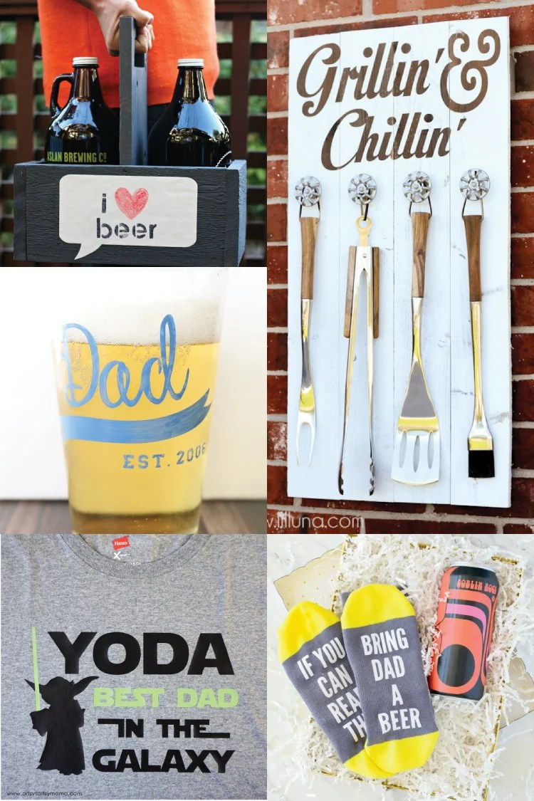 Father's Day is the perfect time to get crafty for dad! He'll love all these Father's Day Craft Ideas made using your Cricut—like grilling aprons, personalized coffee mugs, and much more. Your Cricut makes these Father's Day crafts easy and fun to make!