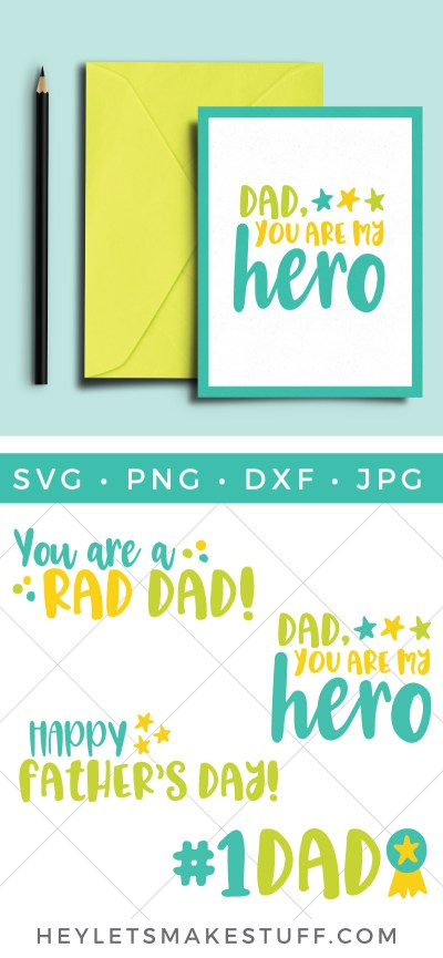 Celebrate your awesome dad this year with these fun Happy Father's Day SVG files! Put them on a Father's Day card, barbecue apron, or anywhere else you want to honor your dad.