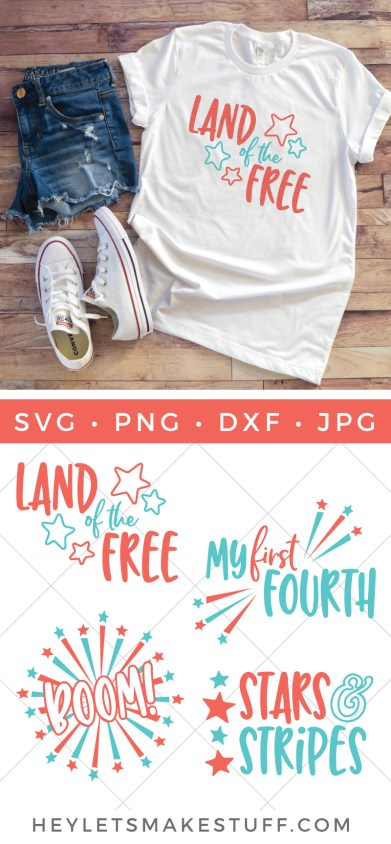 Celebrate the 4th with patriotic crafts and decor! This Fourth of July SVG Bundle has all you need to add some flair to your tote bags, water bottles, party decor and much more!