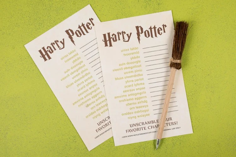 How well do you know the characters of Harry Potter? Test your wizardry knowledge with this printable Harry Potter game! This character scramble is great Harry Potter party idea!