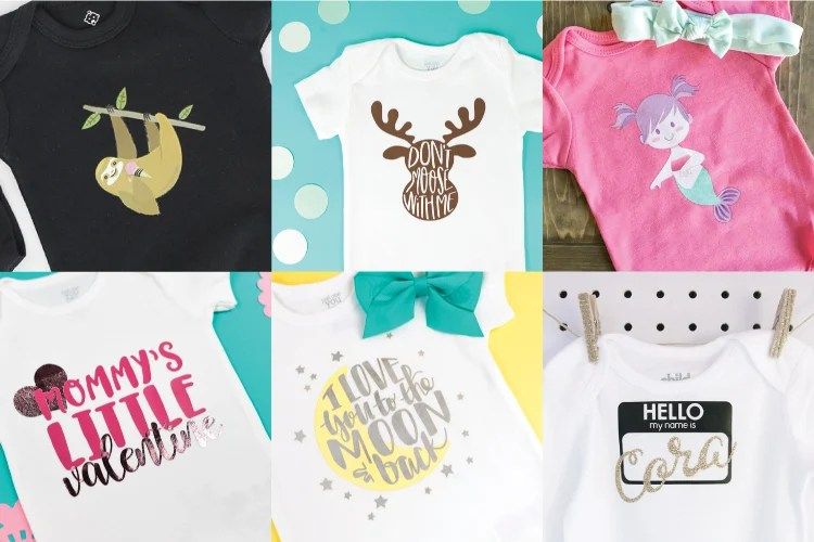 d2854eb47 DIY Baby Onesies with the Cricut - Hey