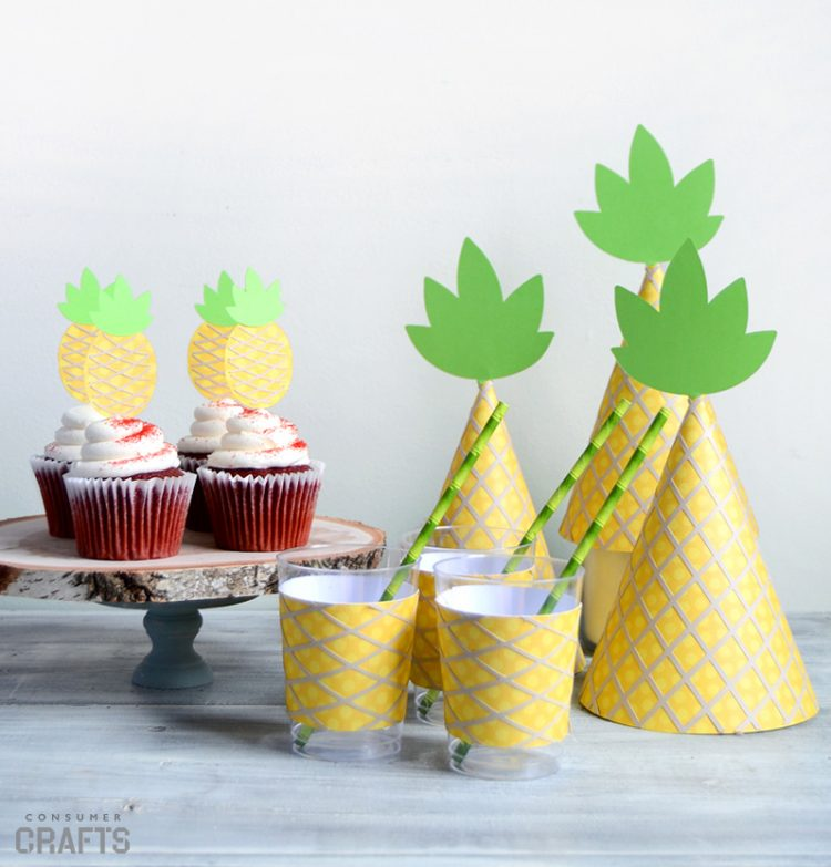 Printable Pineapple Party Templates