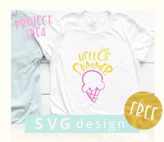 "Free SVG File ""Hello Summer"""