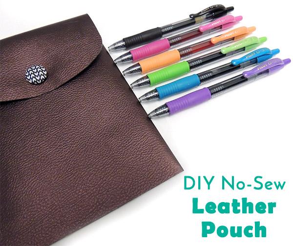 No Sew Pen Pouch