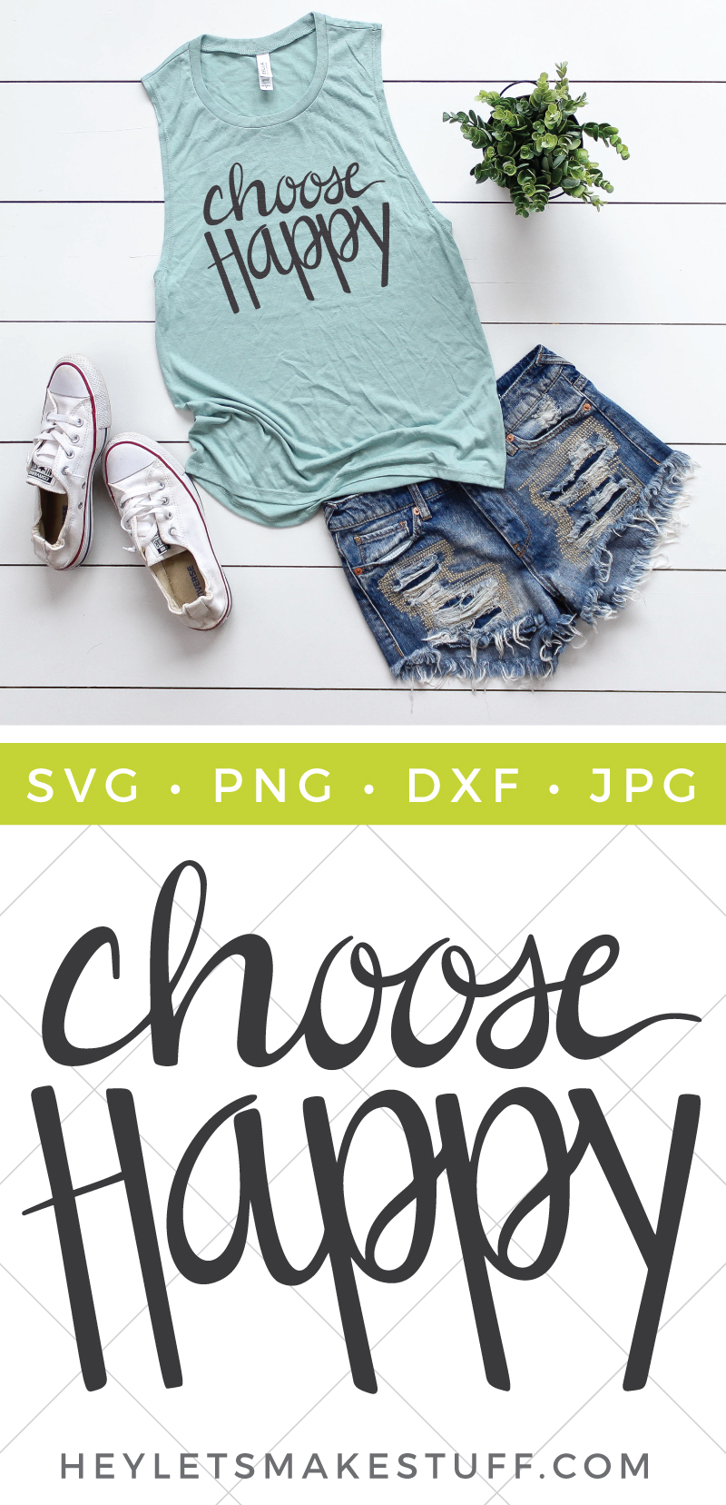 This Choose Happy SVG cut file is a good reminder that a lot of times we can pick our attitude!  via @heyletsmakestuf