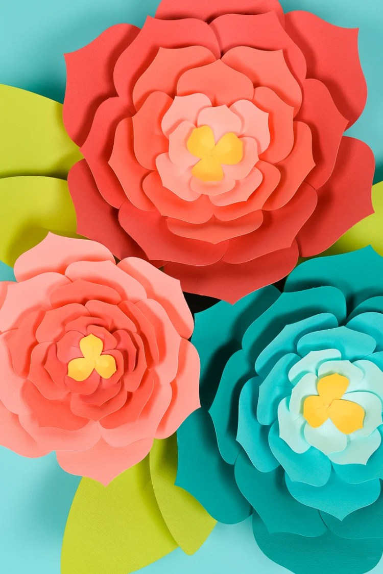 giant paper flowers  template   tips and tricks to make it