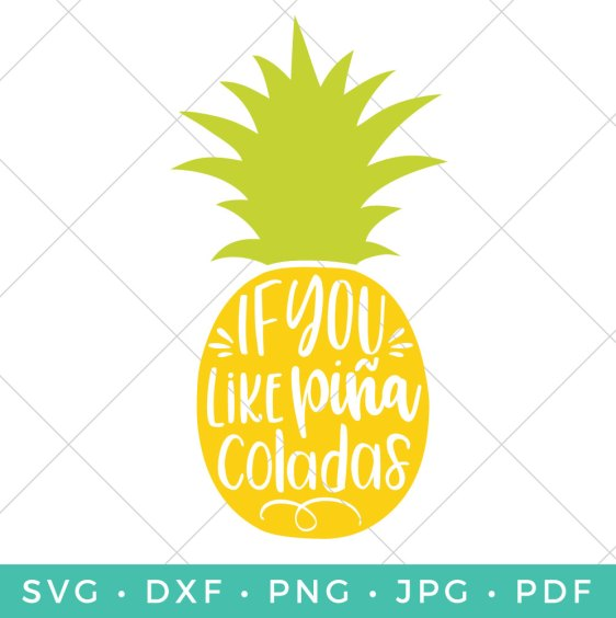 Everyone loves a good pineapple SVG! This piña colada pineapple cut file is perfect for summer and tropical projects!