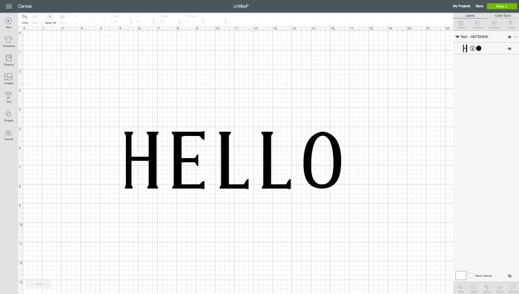 HELLO using Antenna font