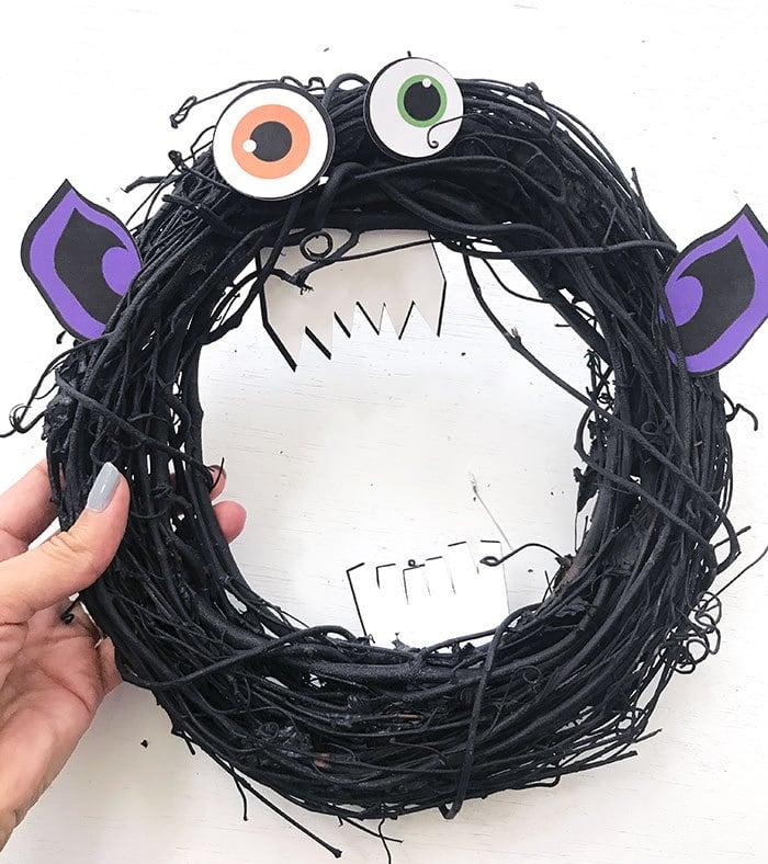 cricut craft kids wreath