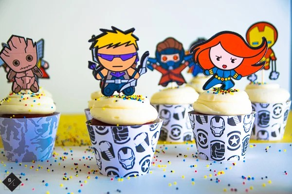 Avengers Cupcake Toppers