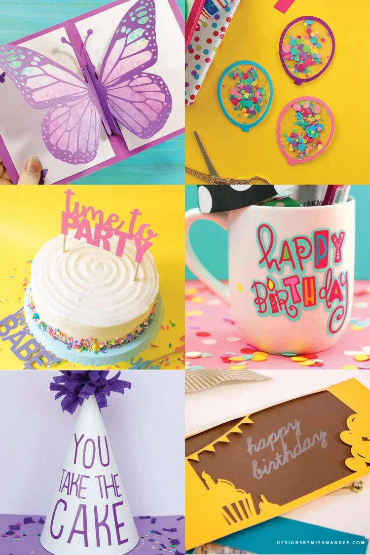 Want to DIY a birthday party? You're in luck! These FREE birthday party SVGs include decor, t-shirts, invitations, and more—designed to be cut on your Cricut or other cutting machine.